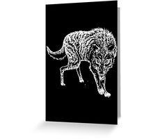 Hungry wolf Greeting Card