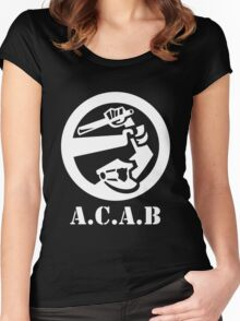 All Cops Are Bastards Women's Fitted Scoop T-Shirt