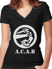 All Cops Are Bastards Women's Fitted V-Neck T-Shirt