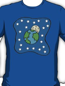 Earth Stars Moon T-Shirt