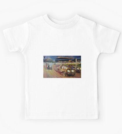 ASTOR CUP; Vintage Grand Prix Auto Racing Print Kids Tee