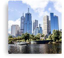 Melbourne City View Canvas Print
