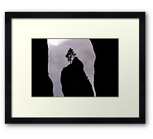 Lonely Tree on the Rock - Nature Photography Framed Print