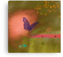 Butterfly fields Canvas Print