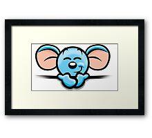 HeinyR- Blue Mouse Framed Print