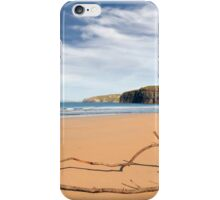 driftwood on the beach at Ballybunion iPhone Case/Skin