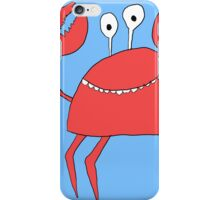 Cartoon Crab Print iPhone Case/Skin