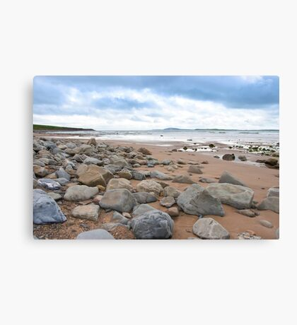 desolate rocky beal beach Canvas Print