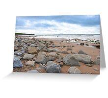 desolate rocky beal beach Greeting Card