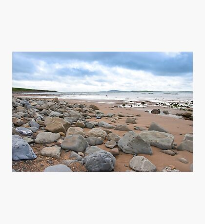 desolate rocky beal beach Photographic Print