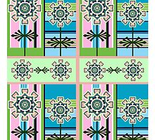 Retro pattern and fantasy flowers by walstraasart