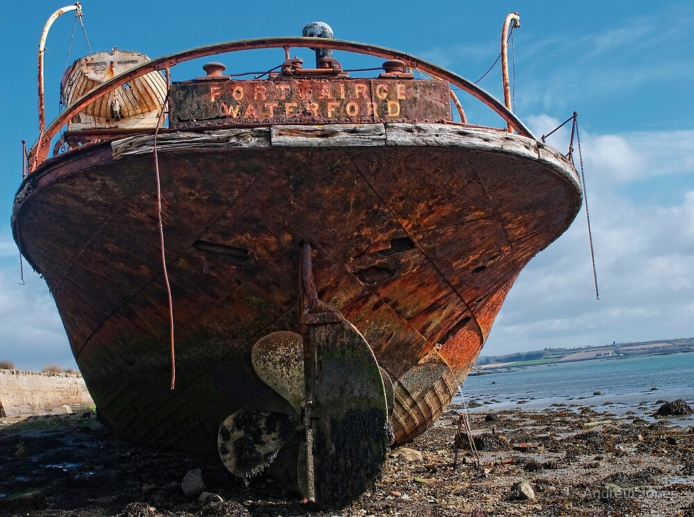 The stern of the Portlairge, Saltmills, County Wexford by Andrew Jones