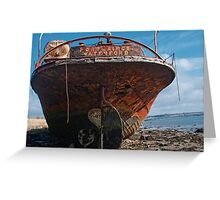 The stern of the Portlairge, Saltmills, County Wexford Greeting Card