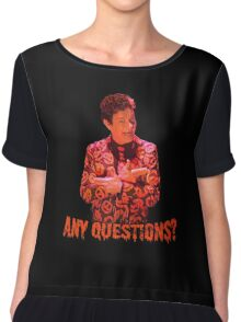 David S. Pumpkins - Any Questions? VI Chiffon Top