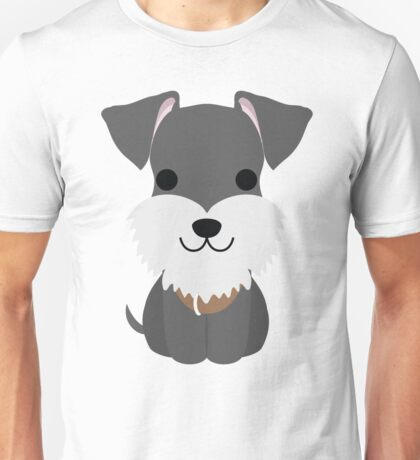 Schnauzer Dog Emoji Happy Smiling Face Unisex T-Shirt