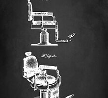 BARBER'S CHAIR PATENT 1910 by Patricia Lintner