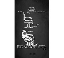 BARBER'S CHAIR PATENT 1910 Photographic Print
