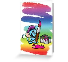 HeinyR- Blue Mouse Painter Greeting Card