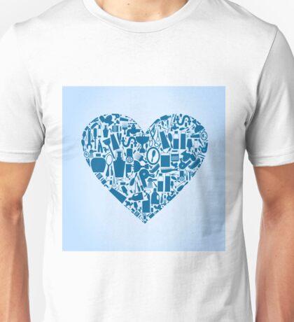 Bath heart Unisex T-Shirt