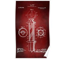 Barber Pole Patent 1916 Poster