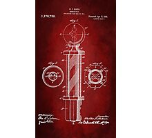 Barber Pole Patent 1916 Photographic Print