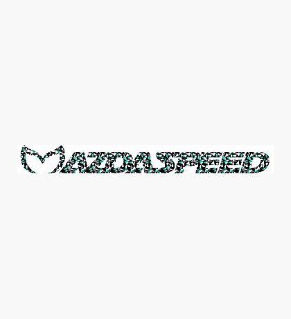 Mazdaspeed Digital Geometric Photographic Print