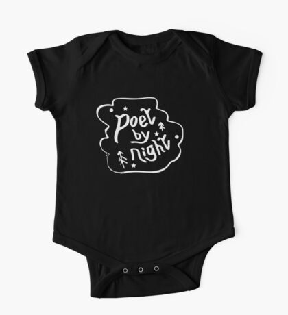 """Poet by Night"" Romantically Relaxed Author T Shirt One Piece - Short Sleeve"