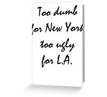 L.A and New York  Greeting Card