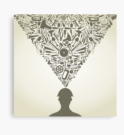Person the tool Canvas Print