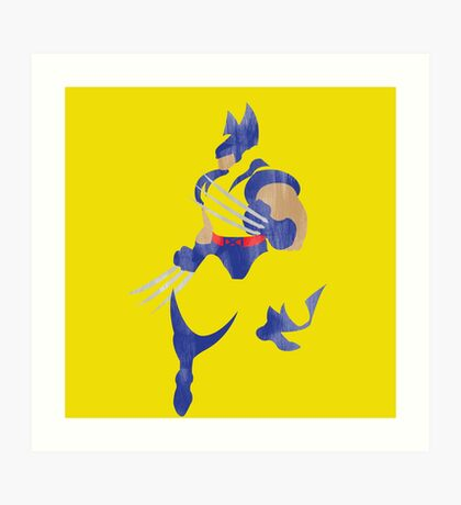 Project Silhouette 2.0: Wolverine Art Print