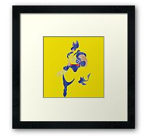 Project Silhouette 2.0: Wolverine Framed Print