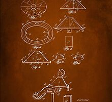 Vintage Barber Apron Patent 1918 by Patricia Lintner