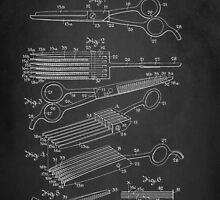 Vintage Hair Cutting Shears Patent 1942 by Patricia Lintner