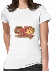 Burnt Toast Dragon Womens Fitted T-Shirt