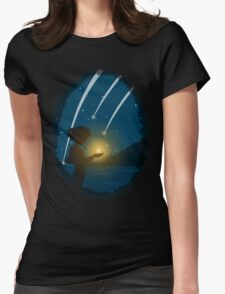 Falling Stars Womens Fitted T-Shirt