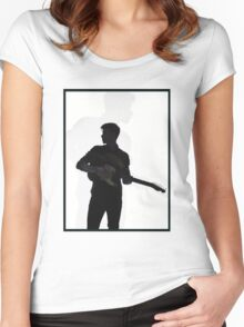 shadow guitar Women's Fitted Scoop T-Shirt