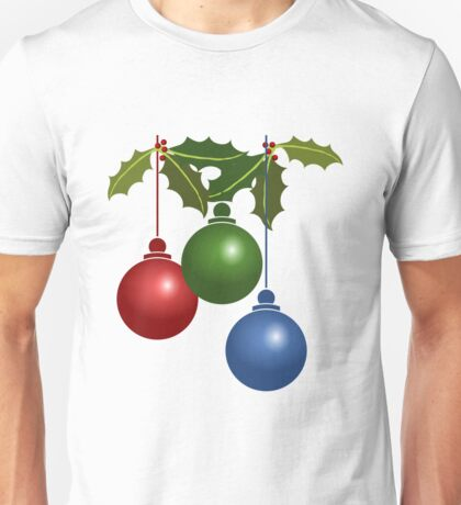 Bauble christmas colour decoration xmas Unisex T-Shirt