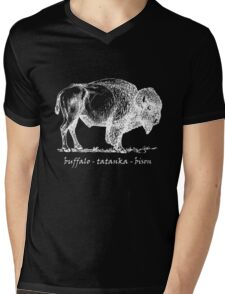 Buffalo Tatanka Bison Sketch Mens V-Neck T-Shirt