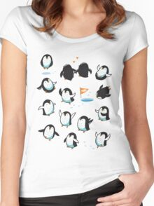 Arctic Penguins Women's Fitted Scoop T-Shirt