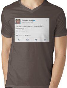 Donald Trump Electoral College Tweet Mens V-Neck T-Shirt