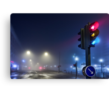 Lights in the Mist. Canvas Print