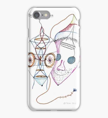 The mask of nature the face behind. iPhone Case/Skin
