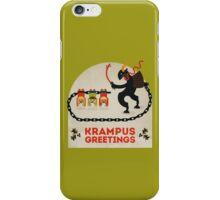 Krampus Greetings iPhone Case/Skin