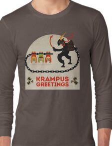 Krampus Greetings Long Sleeve T-Shirt