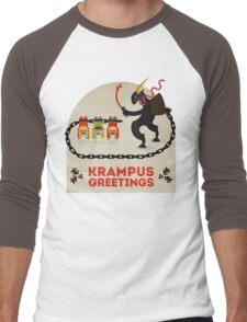 Krampus Greetings Men's Baseball ¾ T-Shirt
