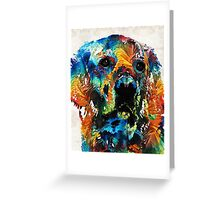 Colorful Dog Art - Heart And Soul - By Sharon Cummings Greeting Card