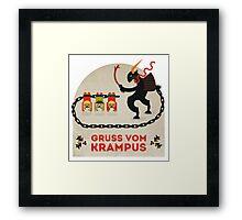 Gruss vom Krampus Framed Print