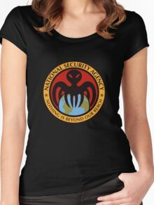The spectre of the NSA (color) Women's Fitted Scoop T-Shirt