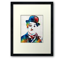 Charlie Chaplin Art - Oh Charlie - By Sharon Cummings Framed Print