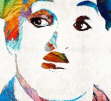 Charlie Chaplin Art - Oh Charlie - By Sharon Cummings Sticker